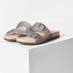 e18fd0fdd28 Urban Outfitters Shoes | Clear Smoke Gray Comfortable Slides | Poshmark